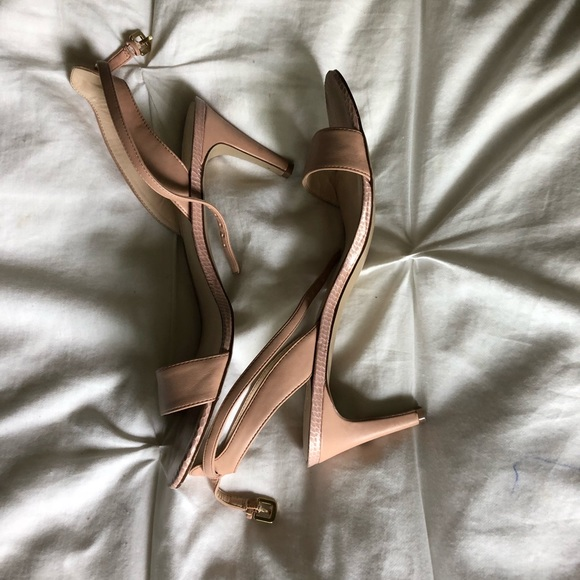 7dcf66ecebd Nine West Jazz nude blush strappy heel. M 5b04243f3afbbde84e114e30